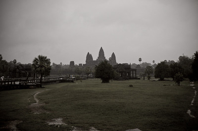 An early morning view of Angkor Wat - the largest religious structure in the world and central site at the Angkor Archaeological Park.
