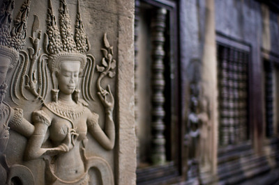 Apsara or Celestial Dancers are one of the national symbols of Cambodia.
