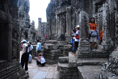 © Joseph Dougherty. All rights reserved.   During the Khmer New Year, the Angkor complex has free admission for Cambodians, so many come to visit the ruins and learn about their ancestors.