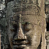 Bayon : Images from a late 12th century Khmer temple; the heat of Bayon's dark imposing stones bake in the Khmer New Year's sun.