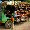 Trucks like these serve the small villages as a shop on wheels.