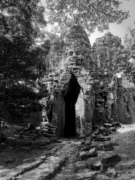 The seldom visited West Gate of of Anghkor Thom.