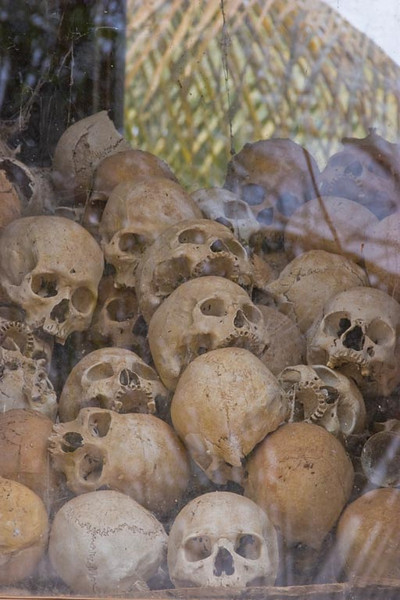 "Memorial to the ""Killing Fields""<br /> Pol Pot killed 2 million Camboadians"