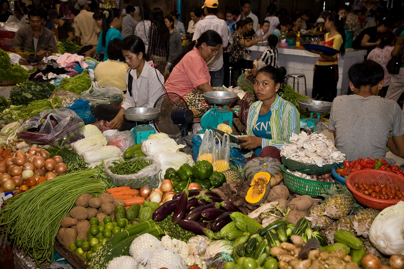 Vegetables at Siem Reap's Psar Chas market