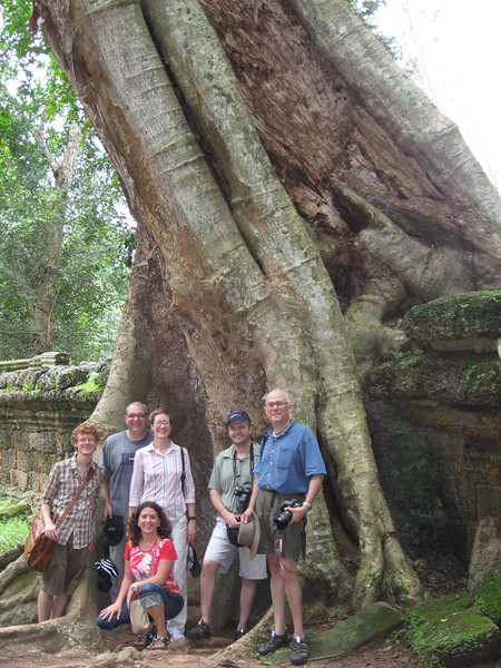 Our little group at Ta Prohm