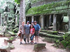 Jonathan, Abdo, Hadia and J1 at Ta Prohm