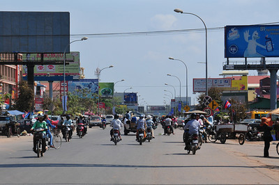 Daytrip to Tonle Sap - leaving Siem Reap