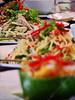 Cambodia - Phnom Penh - city - food - Romdang restaurant - mango salad et al