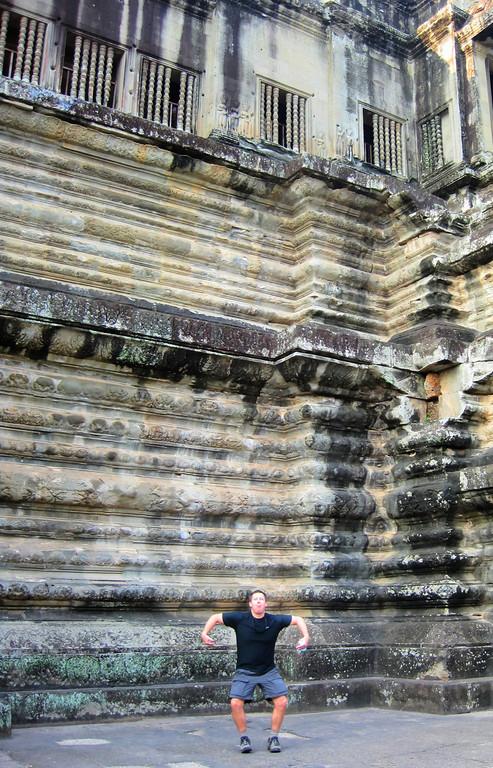 Monkey Tom in Ankor Wat.
