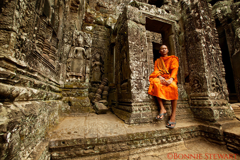 A Monk named Bansung at the Bayon Temple