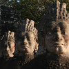 Asuras lining the causeway at the South Gate of Angkor Thom.