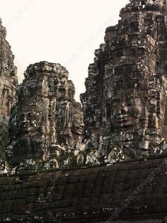 Cambodia - Siem Reap - Angkor - Angkor Thom - Bayon Temple - faces - towers