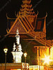 Cambodia - Phnom Penh - city - National Palace - gate by night