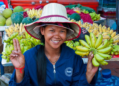 Cheerful fruit seller