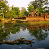 Banteay Srei Temple, also known as the Citadel of Women, is located outside of Siem Reap.  It was founded in the second half of the 10th century by Hindu Priests so it is not a royal temple.  There are beautiful carvings in pink sandstone