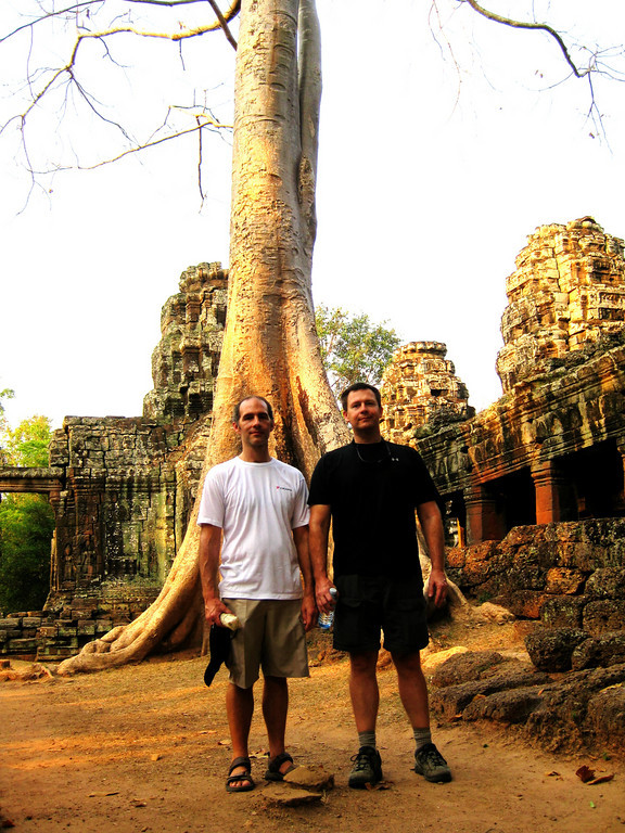Tim and Tom in Cambodia.