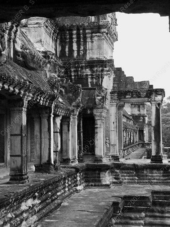 Cambodia - Siem Reap - Angkor - Angkor Wat - rear of temple