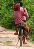 Cambodia - Siem Reap - Bampingreach - old woman on bike
