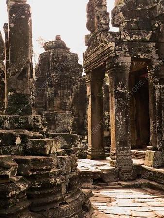 Cambodia - Siem Reap - Angkor - Angkor Thom - Bayon Temple - faces - columns