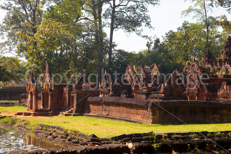 Bantay Srei, 10th century Cambodian temple dedicated to the Hindu god Shiva