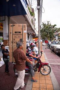 Refrigerator delivery in Cambodia