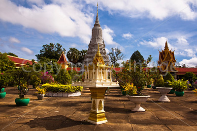 Grounds of the Silver Pagoda in the Cambodian Royal Palae