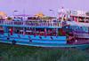 Cambodia - Phnom Penh - Mekong - boats - blue