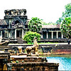 Crumbling Statues and a Moat at another Entrance to Angkor II