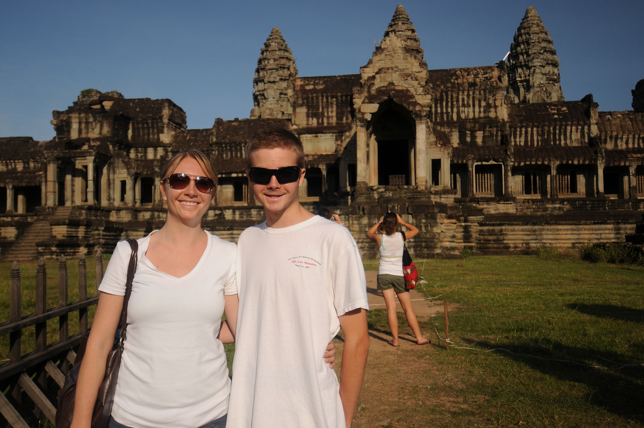 Detgen and Conor at Angkor Wat