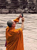 Cambodia - Siem Reap - Angkor - Angkor Wat - people - monk with iPhone