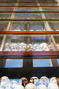 Skulls excavated from the Killing Fields