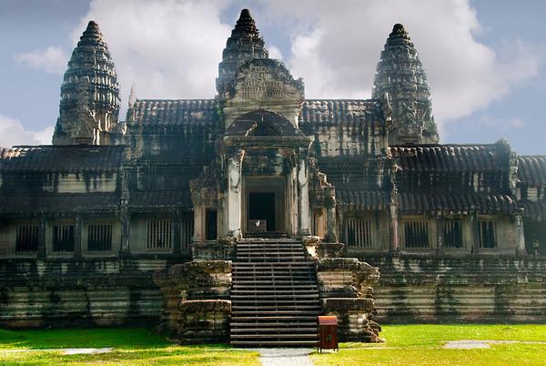 Angkor Wat, rear entrance