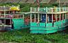 Cambodia - Phnom Penh - Mekong - boats - green