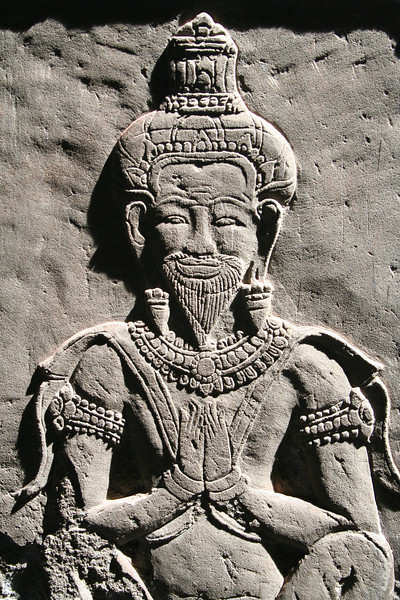 Sadhu (Hindu holy man), Wall relief from the Temple of Angkor Wat.
