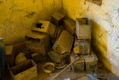 Empty ammunition boxes dumped in a room at the Tuol Sleng (S-21) Genocide Museum - Phnom Pehn