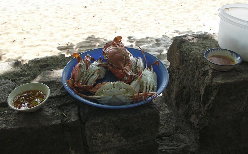 Fresh Crab at Kep