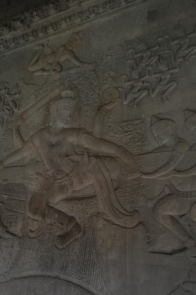 Relief carvings at Angkor Wat