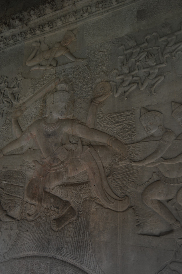Relief carvings at Angkor Wat
