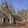 Monks at Bayon Temple at Angkor Thom