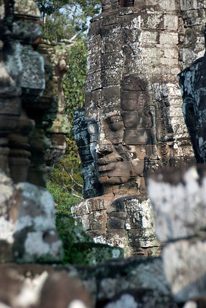 Bayon Temple, faces of Avalokiteshvara