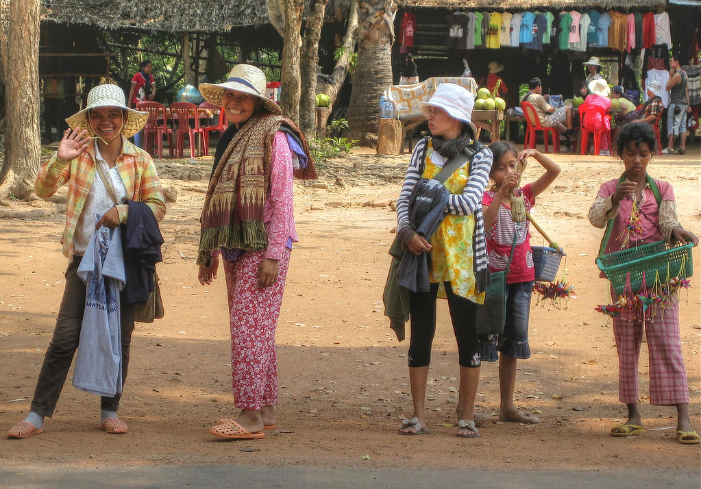 Sales people around Ankor Wat. Told the kids if they could catch me I would buy something. They never caught me.