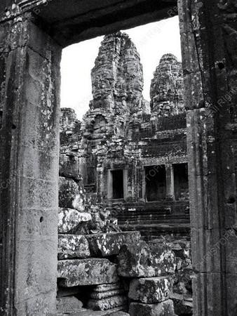 Cambodia - Siem Reap - Angkor - Angkor Thom - Bayon Temple - frame