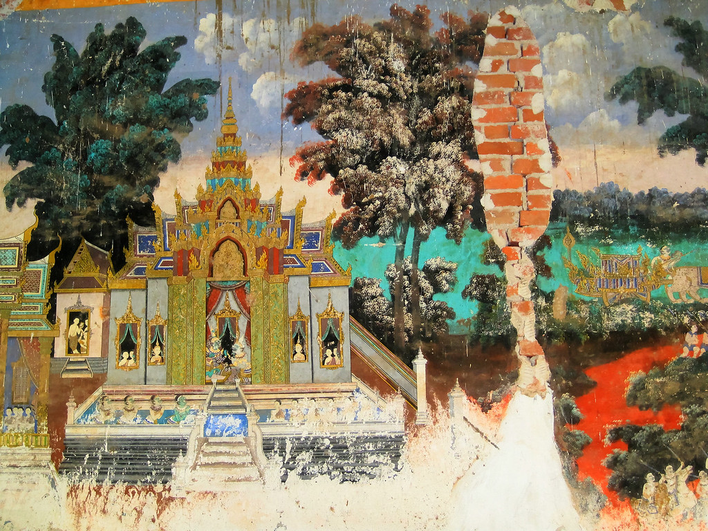 Wall paintings, Imperial Palace Cambodia.