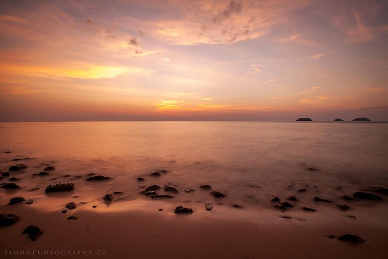 Lonley Beach Sunset