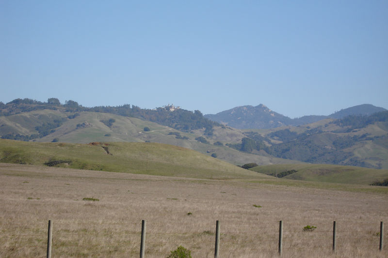 A first view of Hearst Castle.