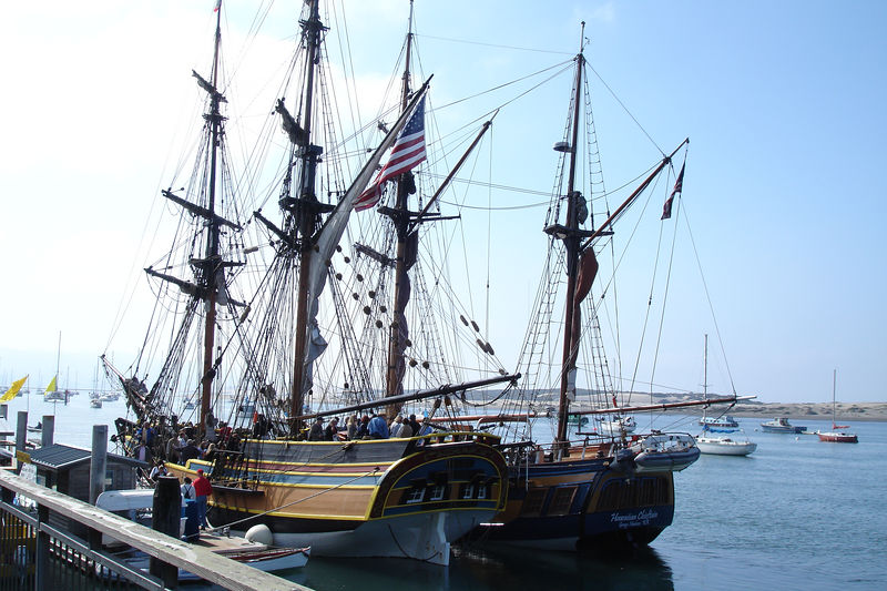 On my last day I visited this replica of a 19th ? century vessel docked at Morro Bay for the weekend.