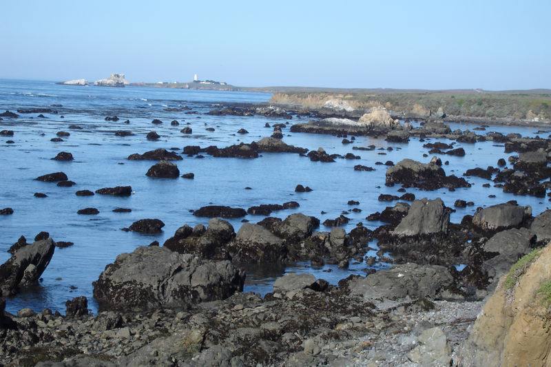 The lens from the lighthouse in the distance<br /> appears in Cambria later in these photos.