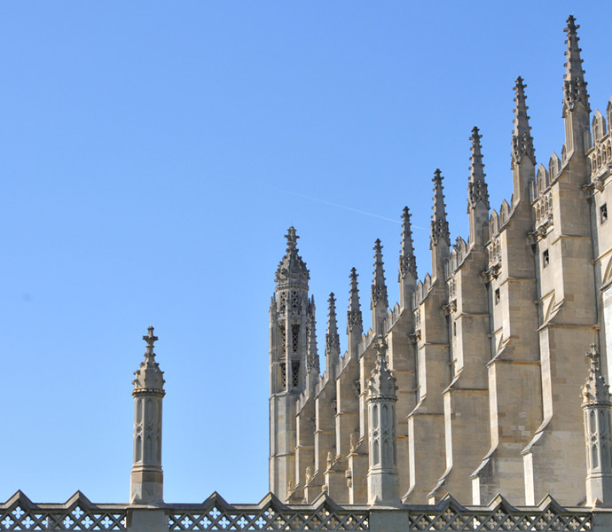 Impressive chapel buttresses. Quite a few students climbed the building in my time - much to the irritation of the dons.