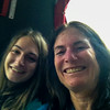 Audrey and Lexie selfie on the bus to Oxford, UK Vacation 2014-07-08