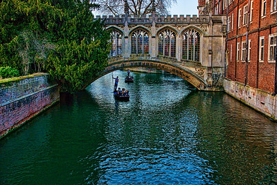 Bridge of Sighs, connecting St.John's college and Trinity  college